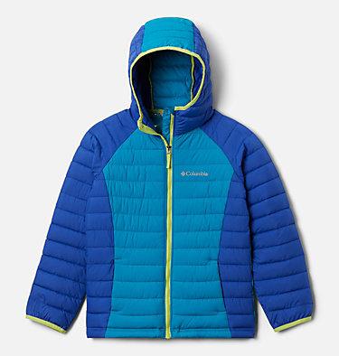 Girls' Powder Lite™ Hooded Jacket Powder Lite™ Girls Hooded Jacket | 658 | XXS, Lapis Blue, Fjord Blue, front
