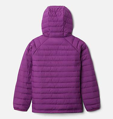 Girls' Powder Lite™ Hooded Jacket Powder Lite™ Girls Hooded Jacket | 658 | XXS, Plum, back