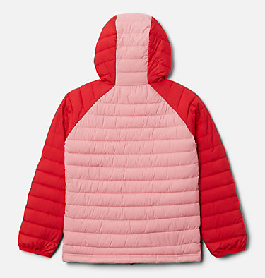 Girls' Powder Lite™ Hooded Jacket Powder Lite™ Girls Hooded Jacket | 658 | XXS, Red Lily, Pink Orchid, back