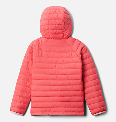 Girls' Powder Lite™ Hooded Jacket Powder Lite™ Girls Hooded Jacket | 658 | XXS, Bright Geranium, back