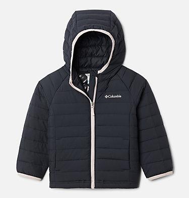 Girls' Toddler Powder Lite™ Hooded Jacket Powder Lite™ Girls Hooded Jacket | 410 | 4T, Black, front