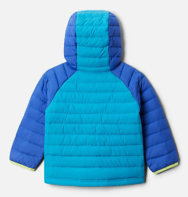Girls' Toddler Powder Lite™ Hooded Jacket Powder Lite™ Girls Hooded Jacket | 410 | 4T, Lapis Blue, Fjord Blue, back