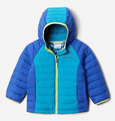 Girls' Toddler Powder Lite™ Hooded Jacket Powder Lite™ Girls Hooded Jacket | 410 | 4T, Lapis Blue, Fjord Blue, front