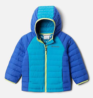 Girls' Toddler Powder Lite™ Hooded Jacket Powder Lite™ Girls Hooded Jacket | 410 | 4T, Lapis Blue, Fjord Blue, front