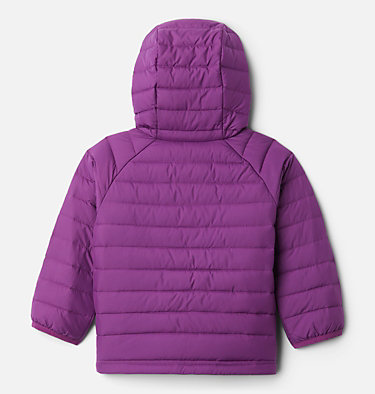 Girls' Toddler Powder Lite™ Hooded Jacket Powder Lite™ Girls Hooded Jacket | 410 | 4T, Plum, back