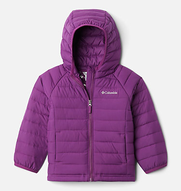 Girls' Toddler Powder Lite™ Hooded Jacket Powder Lite™ Girls Hooded Jacket | 410 | 4T, Plum, front