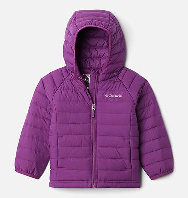 Girls' Toddler Powder Lite™ Hooded Jacket Powder Lite™ Girls Hooded Jacket | 410 | 4T, Plum, front
