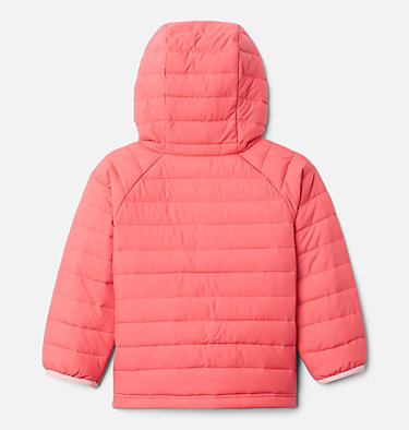 Girls' Toddler Powder Lite™ Hooded Jacket Powder Lite™ Girls Hooded Jacket | 410 | 4T, Bright Geranium, back