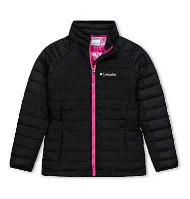 Powder Lite™ Girls Jacket Powder Lite™ Girls Jacket | 695 | L, Black, front