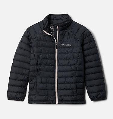 Veste Powder Lite™ Fille Powder Lite™ Girls Jacket | 012 | XS, Black, Mineral Pink, front