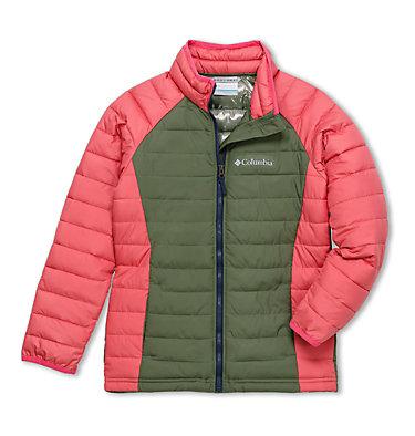 Powder Lite™ Jacke für Mädchen Powder Lite™ Girls Jacket | 307 | XS, Cypress, Wild Salmon, front