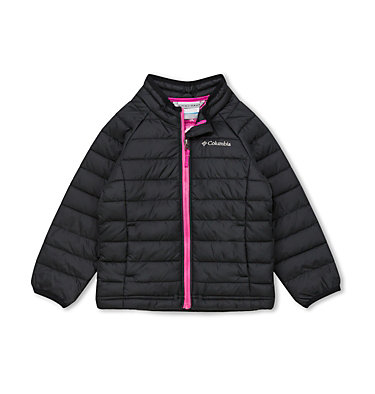 Veste Powder Lite Fille Powder Lite™ Girls Jacket | 695 | 2T, Black, front
