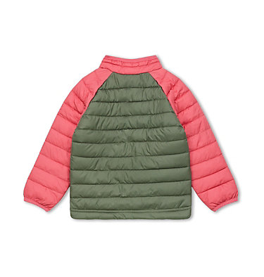 Powder Lite Jacke für Mädchen Powder Lite™ Girls Jacket | 695 | 2T, Cypress, Wild Salmon, back