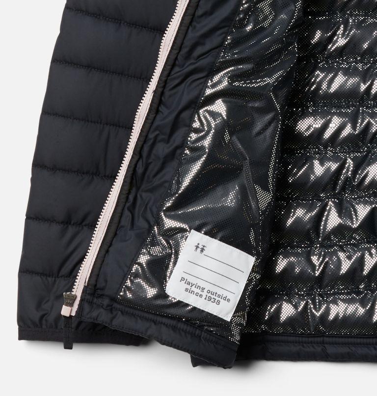 Powder Lite™ Girls Jacket | 012 | XXS Girls' Powder Lite Jacket, Black, Mineral Pink, a1
