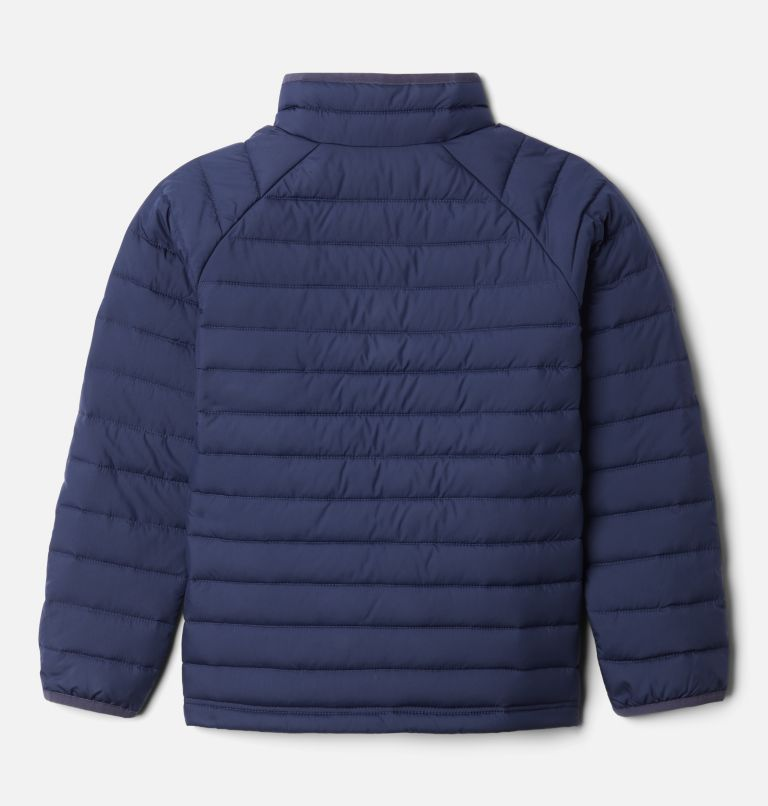 Powder Lite™ Girls Jacket | 468 | XS Girls' Powder Lite Jacket, Nocturnal, Pale Lilac, back