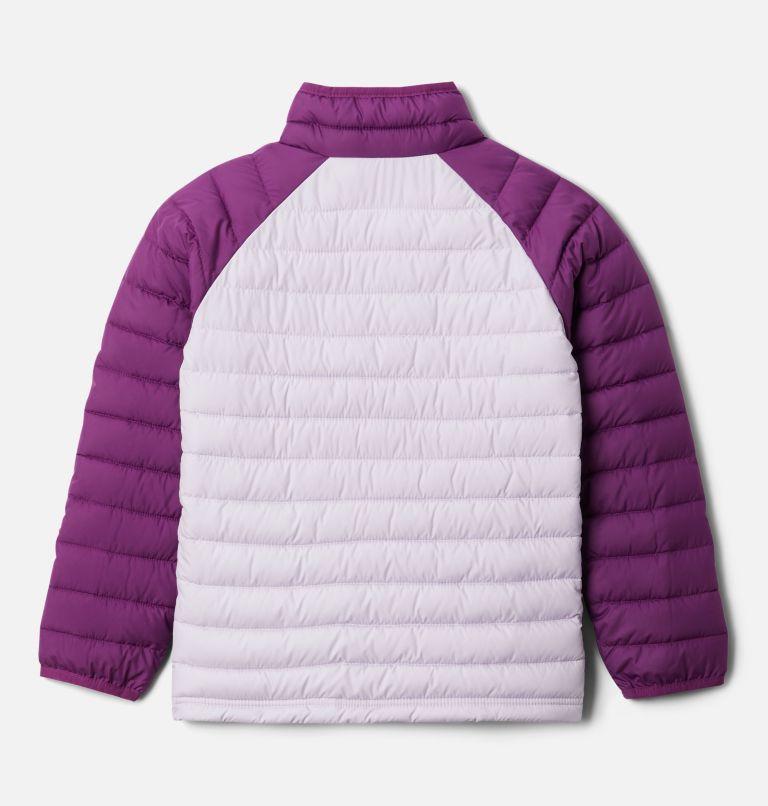 Powder Lite™ Girls Jacket | 584 | XXS Girls' Powder Lite Jacket, Pale Lilac, Plum, back
