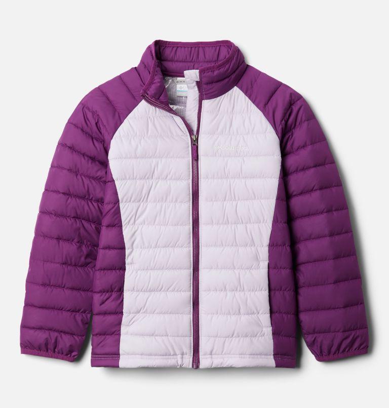 Powder Lite™ Girls Jacket | 584 | XXS Girls' Powder Lite Jacket, Pale Lilac, Plum, front