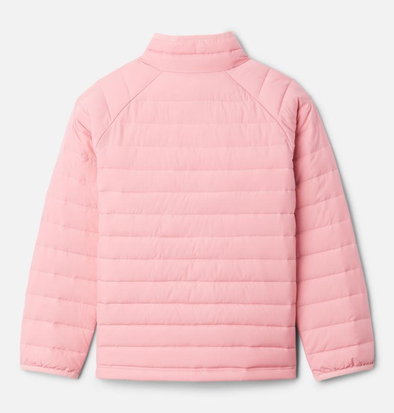 Powder Lite™ Girls Jacket | 689 | XXS Girls' Powder Lite Jacket, Pink Orchid, back