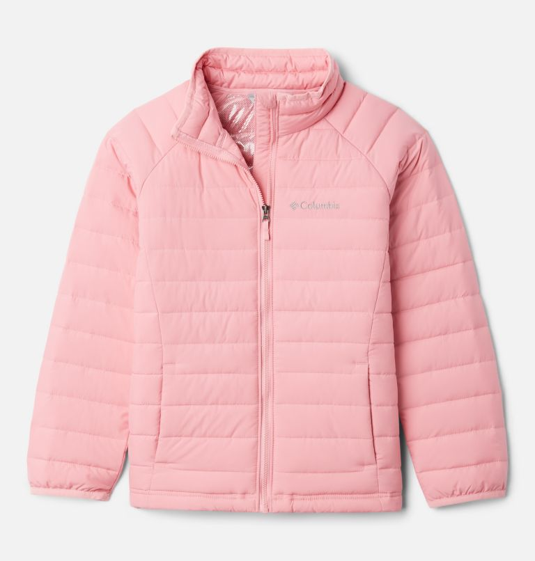Powder Lite™ Girls Jacket | 689 | XXS Girls' Powder Lite Jacket, Pink Orchid, front
