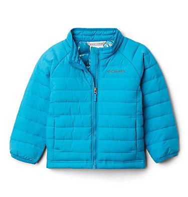 Girls' Toddler Powder Lite Jacket Powder Lite™ Girls Jacket | 584 | 3T, Fjord Blue, front