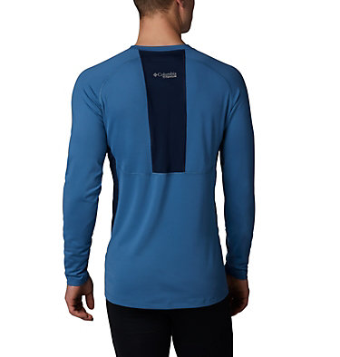 Men's Titanium OH3D™ Knit Crew Top Omni-Heat 3D™ Knit Crew Top | 461 | L, Scout Blue, Collegiate Navy, back