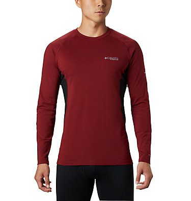 Men's Titanium Omni-Heat 3D™ Knit Crew Top Omni-Heat 3D™ Knit Crew Top | 664 | L, Red Jasper, Black, front