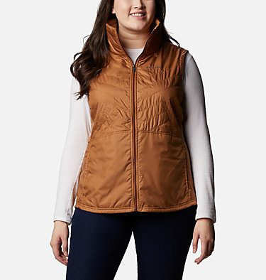 Women's Mix It Around™ II Vest - Plus Size Mix It Around™ II Vest | 671 | 1X, Elk, front