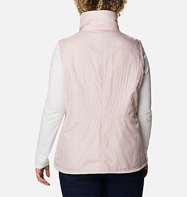 Women's Mix It Around™ II Vest - Plus Size Mix It Around™ II Vest | 618 | 1X, Mineral Pink, back
