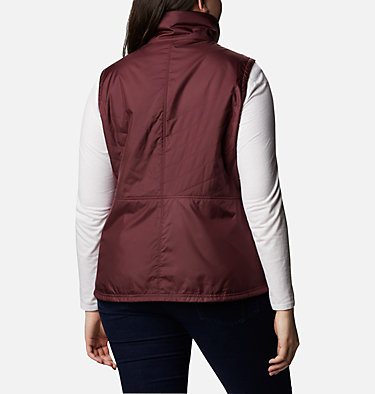 Women's Mix It Around™ II Vest - Plus Size Mix It Around™ II Vest | 618 | 1X, Malbec, back