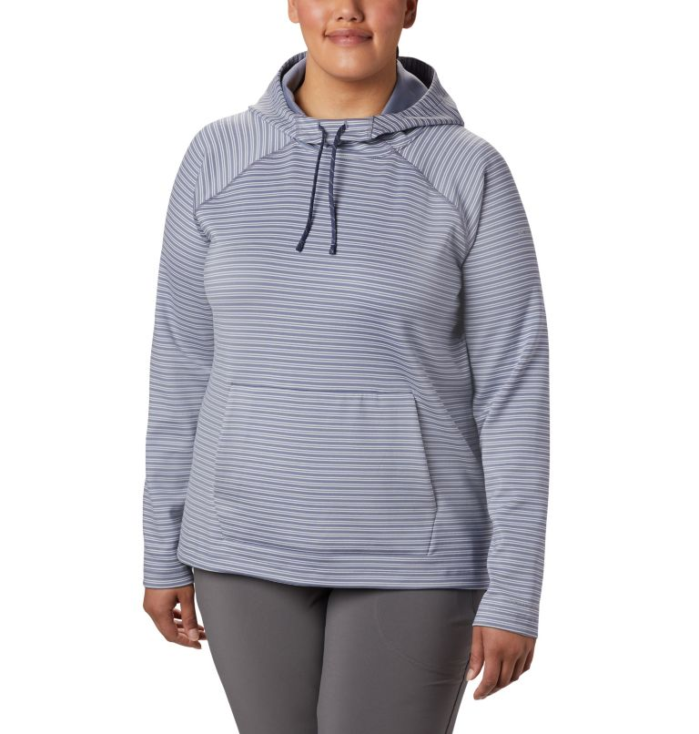 Bryce Canyon™ Hoodie | 556 | 1X Women's Bryce Canyon™ Hoodie - Plus Size, New Moon Stripe, front