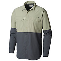 Deals on Columbia Mens Silver Ridge II Blocked Long Sleeve Shirt