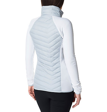 Women's Powder Lite™ Hybrid Fleece Jacket Powder Lite™ Fleece | 031 | XS, Cirrus Grey, White, back