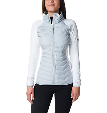 Women's Powder Lite™ Hybrid Fleece Jacket Powder Lite™ Fleece | 607 | L, Cirrus Grey, White, front