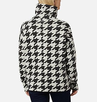 Women's Chillin™ Fleece Pullover Chillin™ Fleece Pullover | 012 | L, Black Houndstooth Print, back
