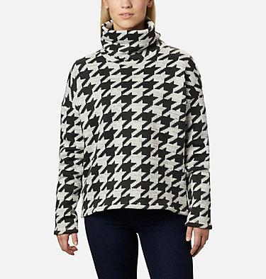 Chandail en laine polaire Chillin™ pour femme Chillin™ Fleece Pullover | 012 | L, Black Houndstooth Print, front