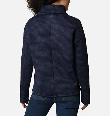 Chandail en laine polaire Chillin™ pour femme Chillin™ Fleece Pullover | 012 | L, Dark Nocturnal Houndstooth Print, back