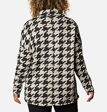 Women's Chillin™ Fleece Pullover - Plus Size Chillin™ Fleece Pullover | 192 | 1X, Black Houndstooth Print, back