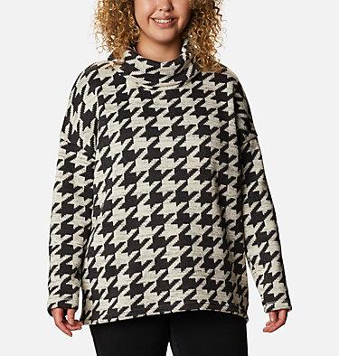 Women's Chillin™ Fleece Pullover - Plus Size Chillin™ Fleece Pullover | 192 | 1X, Black Houndstooth Print, front