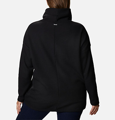 Women's Chillin™ Fleece Pullover - Plus Size Chillin™ Fleece Pullover | 192 | 1X, Black Thermal, back