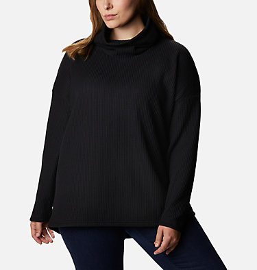 Women's Chillin™ Fleece Pullover - Plus Size Chillin™ Fleece Pullover | 192 | 1X, Black Thermal, front