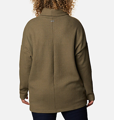 Women's Chillin™ Fleece Pullover - Plus Size Chillin™ Fleece Pullover | 192 | 1X, Stone Green Thermal, back
