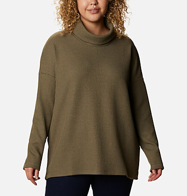 Women's Chillin™ Fleece Pullover - Plus Size Chillin™ Fleece Pullover | 192 | 1X, Stone Green Thermal, front