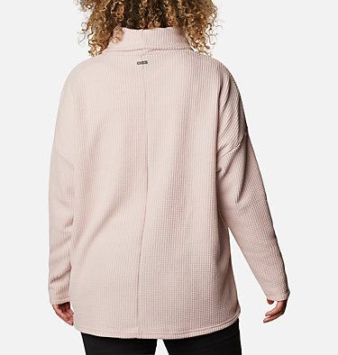 Women's Chillin™ Fleece Pullover - Plus Size Chillin™ Fleece Pullover | 192 | 1X, Mineral Pink Thermal, back