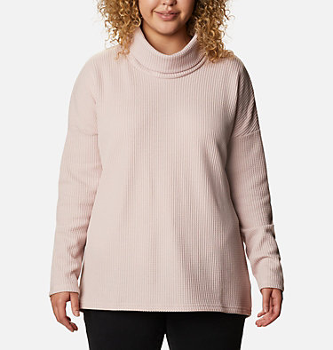 Women's Chillin™ Fleece Pullover - Plus Size Chillin™ Fleece Pullover | 192 | 1X, Mineral Pink Thermal, front