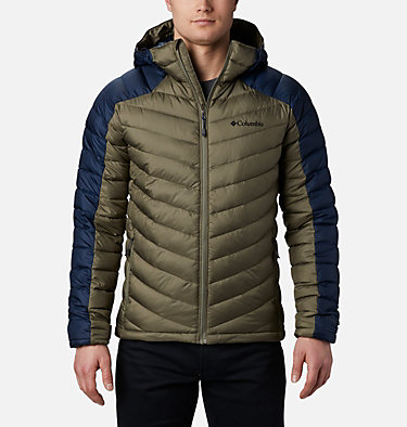 Men's Horizon Explorer™ Hooded Jacket Horizon Explorer™ Hooded Jacket | 397 | S, Stone Green, Collegiate Navy, front