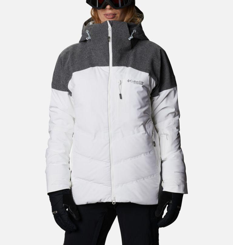 Powder Keg™ II Down Jacket | 101 | XL Women's Powder Keg™ II Ski Down Jacket, White, Cirrus Grey, front