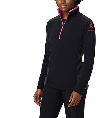 Women's TTIP Glacial™ 1/2 Zip Top Fleece TTIP Glacial™ 1/2 Zip | 618 | L, Black, Shark, front