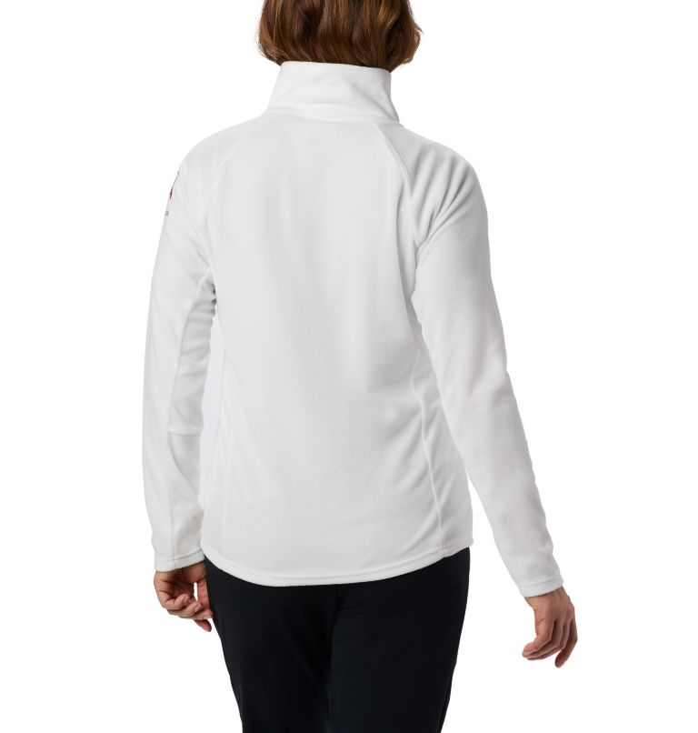 TTIP Glacial™ 1/2 Zip | 125 | M Women's TTIP Glacial™ 1/2 Zip Top Fleece, Sea Salt, Pink Ice, back