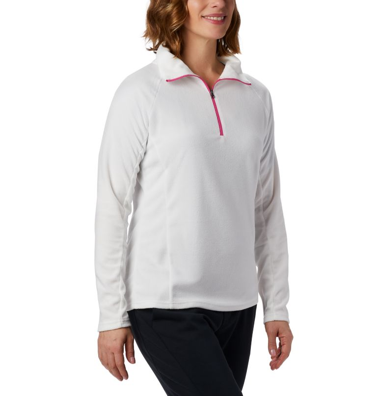 TTIP Glacial™ 1/2 Zip | 125 | M Women's TTIP Glacial™ 1/2 Zip Top Fleece, Sea Salt, Pink Ice, front