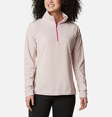 Women's TTIP Glacial™ 1/2 Zip Top Fleece TTIP Glacial™ 1/2 Zip | 125 | L, Mineral Pink, front